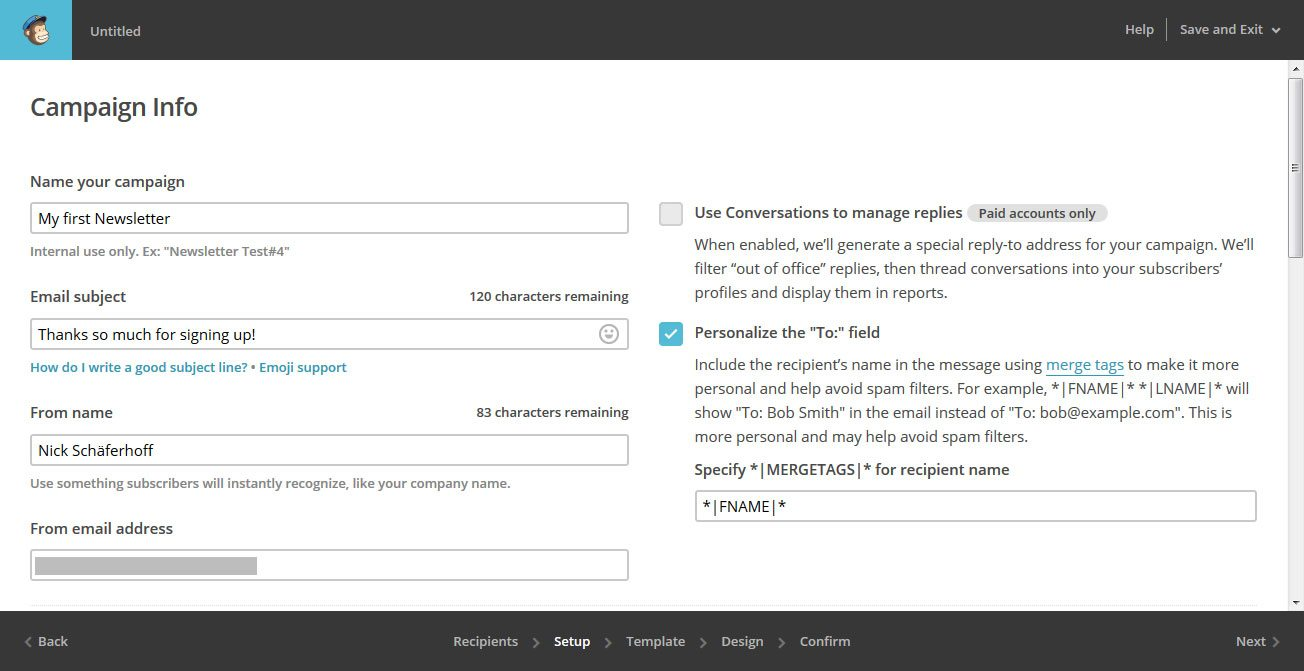 how to create a new campaign in mailchimp
