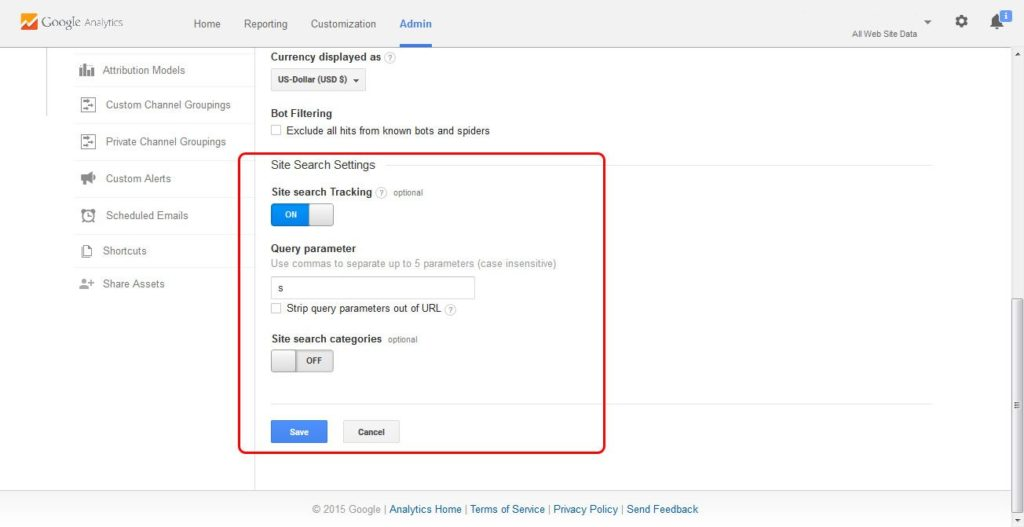 Google-Analytics-Site-Search-Tracking-Enabled