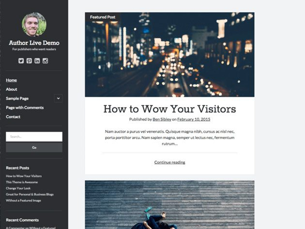 Author theme for more web accessibility