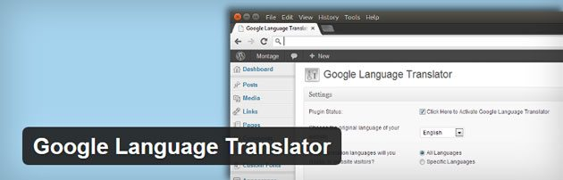 Google Language Translator WordPress translation plugin