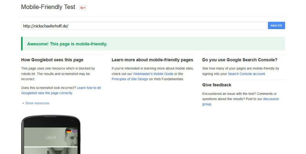 technical seo for wordpress mobile friendly test