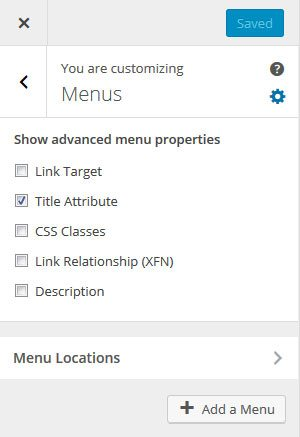 unknown WordPress features advanced menut settings