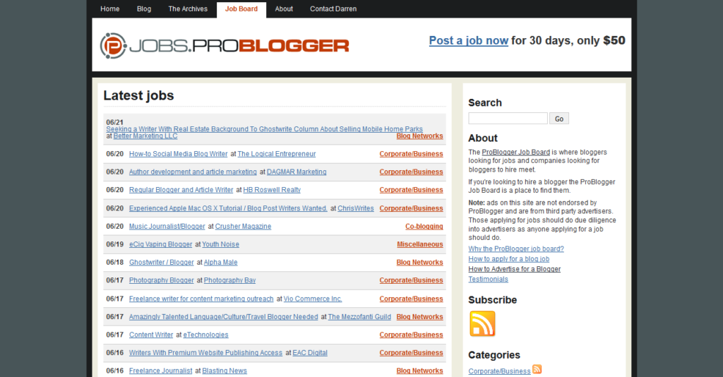 monetize wordpress site job board