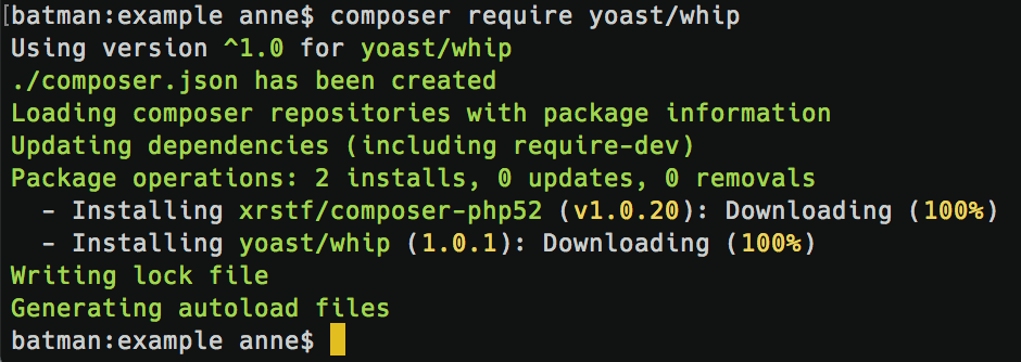 Installing Yoast WHIP using composer