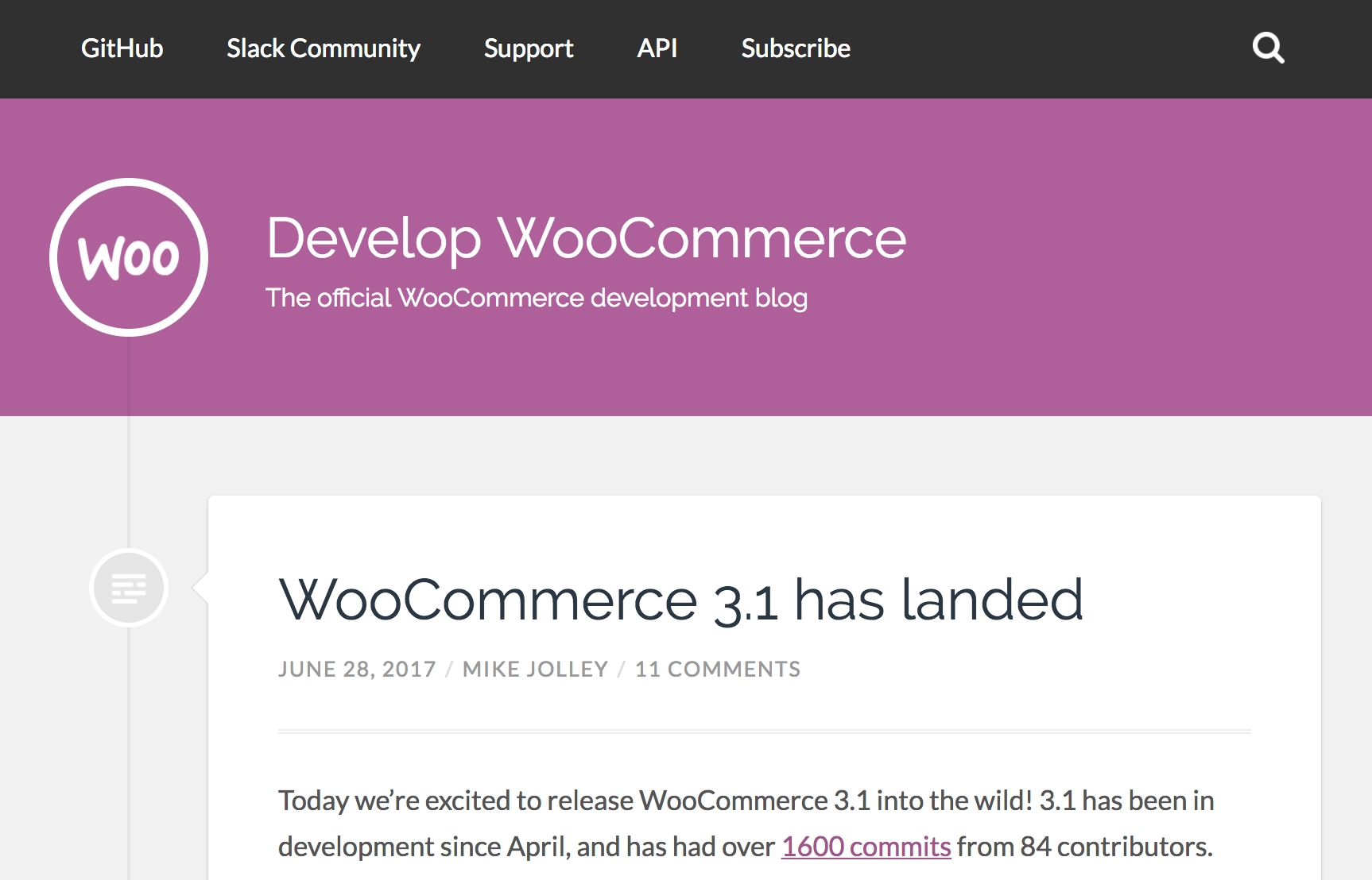 Develop WooCommerce blog