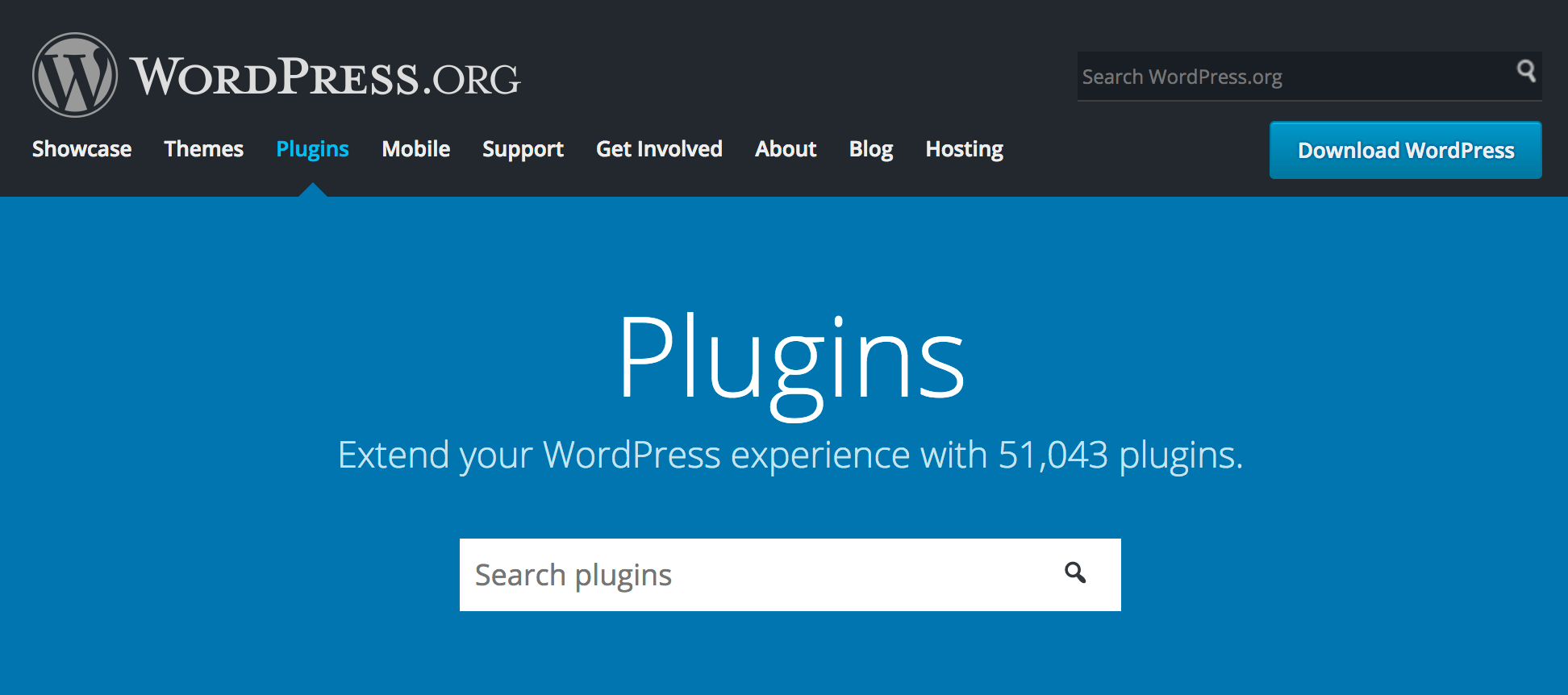 WordPress.org plugins homepage