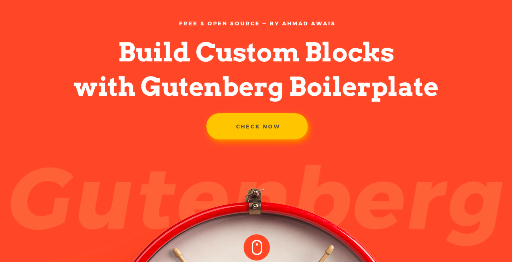 Gutenberg boilerplate project welcome graphics
