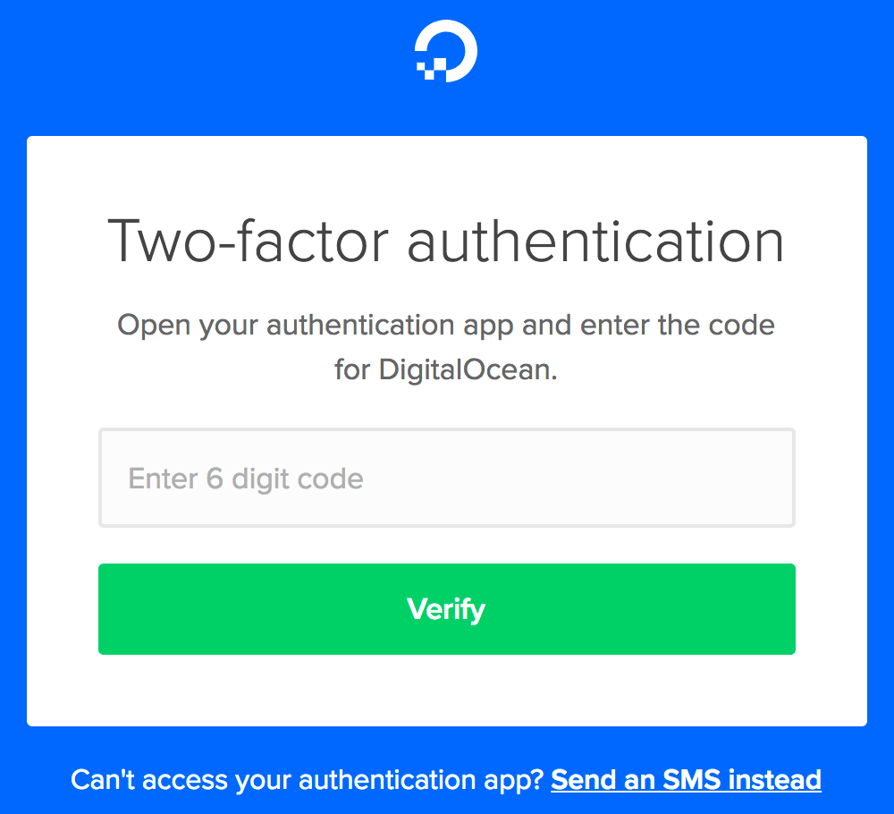 Two-factor authentication example
