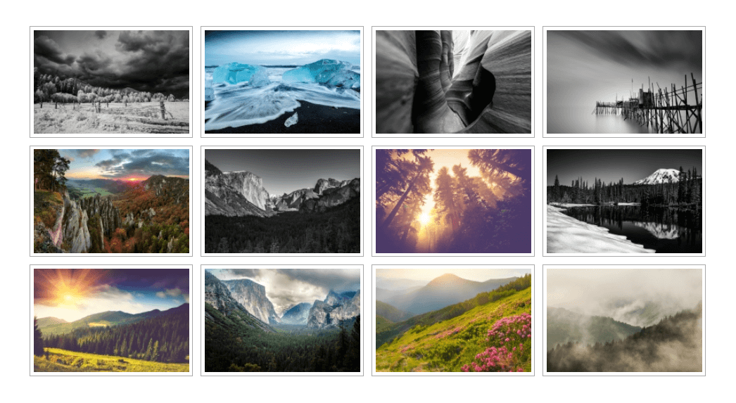 An example of a WordPress image gallery.