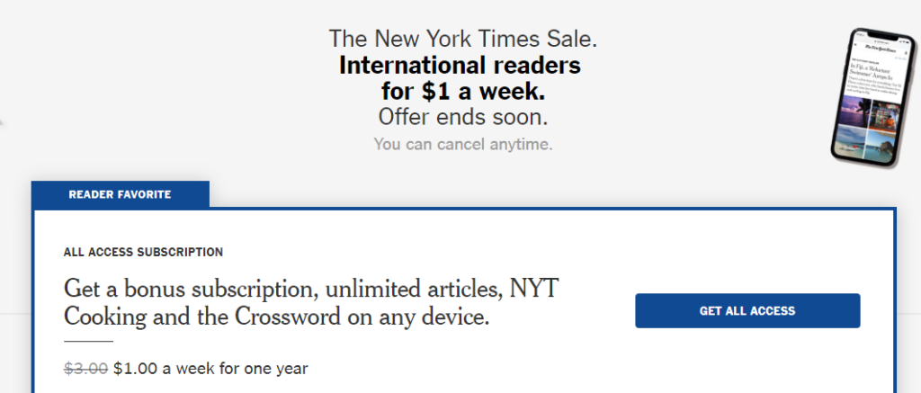 An example of a paywall.