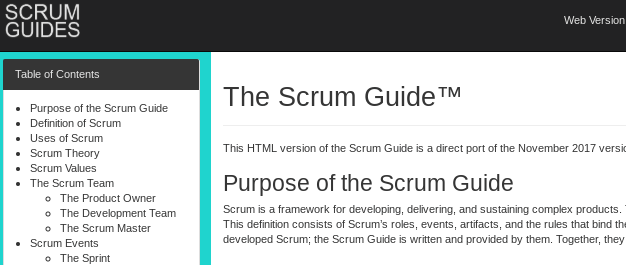 The net version of the Scrum Info.
