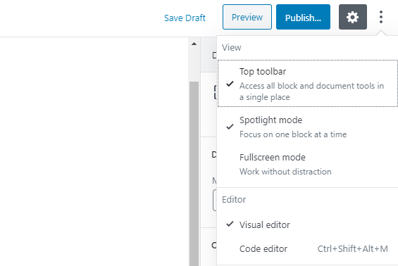 Switching to the code editor.