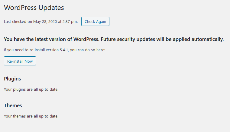 preserve wordpress up up to now