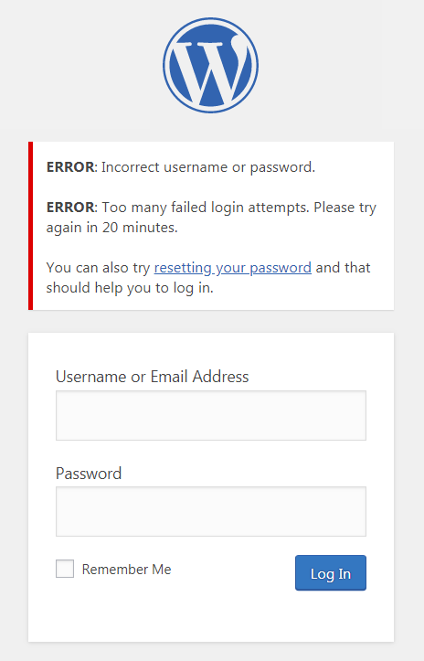 limit login attempts in wordpress to disclaim brute force assaults