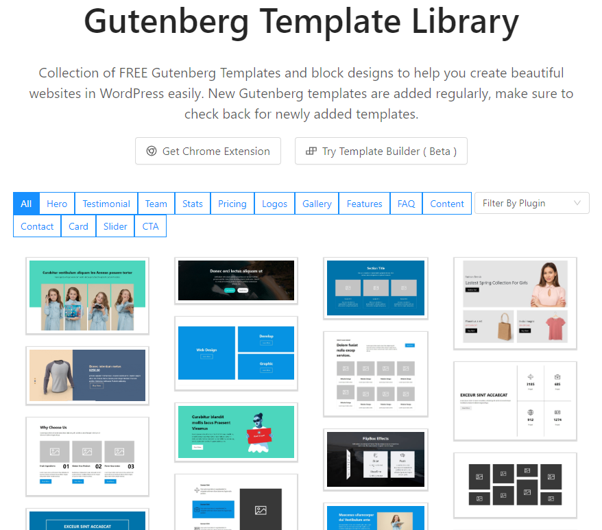 The Gutenberg Template Library.