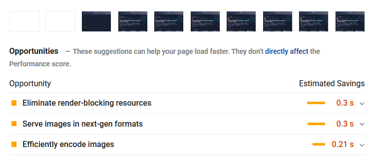 render blocking off sources in pagespeed insights